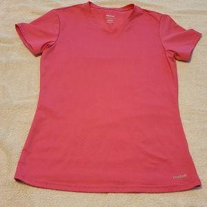 Hot pink reebok workout top